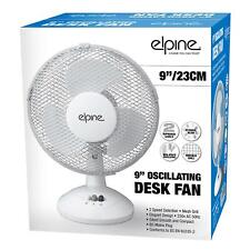 "3 Pin Plug Fan Elegant Design Oscillating 2 Speeds 9"" Clip on Desk Fan Table"