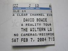 David Bowie La Wiltern Theater 2/7/04 concert ticket