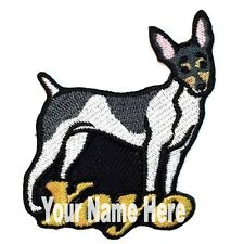 Toy Fox Terrier Dog Custom Iron-on Patch Personalized
