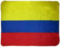 Colombia Flag Fleece Blanket NEW 5 ft x 4.2 ft Bandera Columbia Colombian Cobija