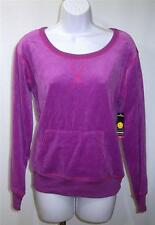 New JOE BOXER S Small Cotton Blend Purple Velour Womens Sleep Shirt Pajama Top
