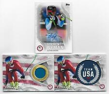 STEVEN NYMAN 2018 Topps U.S. Olympic AUTOGRAPH & RELIC Lot (3 Cards)