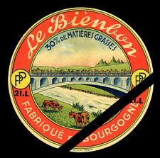 French Cheese Label: Original Vintage Le Bienbon - Bourgogne