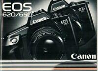 CANON - EOS 620/650 - Bedienungsanleitung für Kamera - B17651