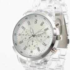 Elegant Crystal Clear Design New Fashion Lady Girl Women Quartz Watch Bracelet