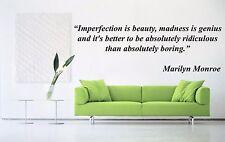Vinyl Wall Decal Sticker Decor Saings Quotes Motivation Marilyn Monroe F1999