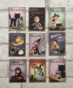 Vintage Retro Halloween Card Toppers, Gift Tags Craft Make Your Own Cards