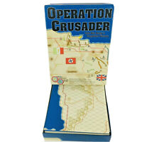 Fresno Gaming Wargame OPERATION CRUSADER Boxed Edition Mostly Unpunched Complete