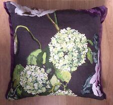 "Designers Guild Alexandria Amethyst Cushion/Pillow Cover 19"" Side Trim Detail"