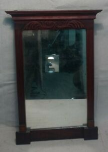 Antique 19th Century Carved Mahogany Hanging Mirror