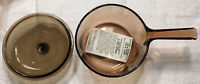 VINTAGE Corning Pyrex Vision Ware 1.5L Glass Pot Sauce Pan with Lid USA 1.5L