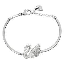Swarovski Swan Bangle - Silver