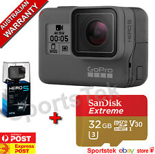 NEW GoPro HERO5 Black Built-In LCD 4K PLUS FREE SANDISK 32GB EXTREME MICRO SD