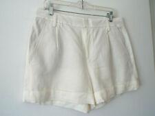 ***VINCE Sz 12 casual linen SHORTS ivory!!