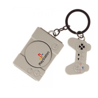 RETRO Sony PlayStation Console KeyChain (Metal) Officially Licensed - Sealed