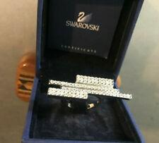 RING Sz 6 SWAROVSKI in box Silver tone rhinestone? cz?