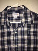 Men's Carhartt short sleeve, button down shirt<>L<>100% cotton