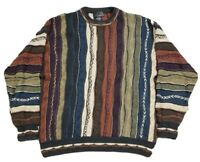 Vtg J. Ferrar Men's Coogi Style 3D Textured 90s Sweater Size XL Biggie Cosby
