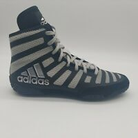 Adidas Adizero Varner 2 Wrestling Shoes Black/Grey Men's Size 14.5 FW1013
