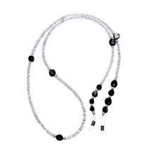 RAINBOW Cordon pour Lunettes Porte-Lunette Lecture Soleil RC02 Perles Noire