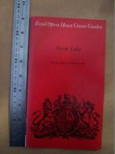Royal Opera House Covent Garden Swan Lake 1982 - used condition program