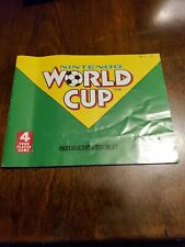 NINTENDO WORLD CUP - NES - GAME MANUAL ONLY - FREE S/H -