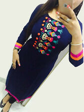 Trendy CottonReyon  Embroidary Neck Work Kurti