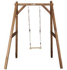 Axi Altalena Legno Singola Seduta Corde Gioco Bambini + 3 Anni Esterno Alt 215cm