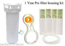 """Pre Filter Housing Kit/Standard 1 YEAR for 10""""spun filter/RO/UV/water purifier"""