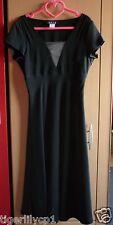 Lange zwarte jurk Maat 38 NIEUW