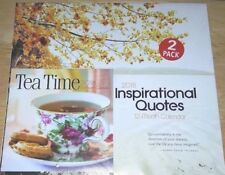 2 Pack 2018 Inspirational Quotes Wall And Tea Time Mini 12 Month Calendar