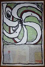 Alechinsky Pierre Affiche abstraction cobra art abstrait Belgique Wagons Lits