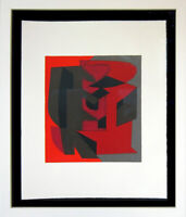 Victor VASARELY Original LITHOGRAPH Limited Ed. on RIVES w/Frame