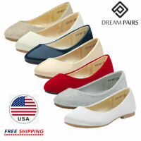 DREAM PAIRS Kids Girls Flat Shoes Casual Dress Shoes Slip On Mary Jane Shoes
