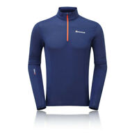 Montane Mens Sports Outdoors Running Allez Micro Pull-On Long Sleeve Top Blue