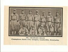 St. Charles Louisville KY 1912 Team Picture Baseball