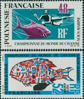 French Polynesia 1969 Sc#C52-C53,SG95-96 Underwater Hunting set MLH