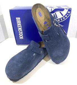 Birkenstock Boston BS Men's Size 11 (EU44)Reg Fit/Sftbd Night Suede Clogs S1-493