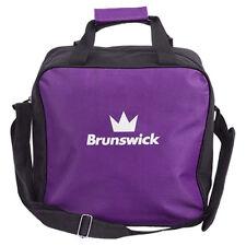 Brunswick TZone Single Tote 1 Ball Bowling Bag Purple