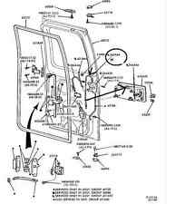 1992-2012 FORD ECONOLINE BACK DOOR CABLE