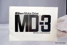 Nikon motor drive winder  MD-3 instruction Manual Guide (EN) F2 genuine