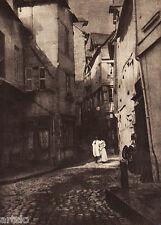 "Héliogravure - 1924 - "" A street in Caudebec ""  par John H. Anderson"