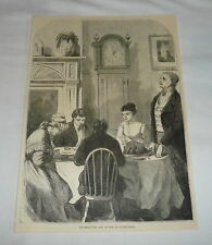 1878 magazine engraving ~  THANKSGIVING DAY AT THE OLD HOMESTEAD