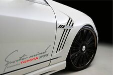 Sports Mind Powered by TOYOTA SPORT Racing Decal sticker emblem logo SIL/R Pair