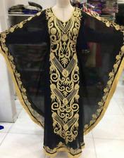 Dubai Black Farasha Kaftan Moroccon Abaya Ms Creation 22111
