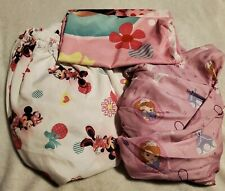Lot Of 2 Toddler Fitted Sheets Sophia The First And Minnie Mouse Bedding