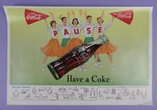 Coca Cola, PAUSE Have A Coke - Original 1957 Poster With Referees Signals