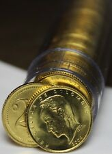 Gem Unc Roll (50) Colombia 2004 20 Peso Coins~Simon Bolivar~Brass~Free Shipping