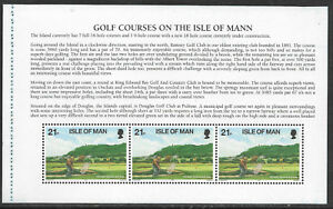 ISLE OF MAN 1997 GOLF Set of 3 BOOKLET PANES MNH