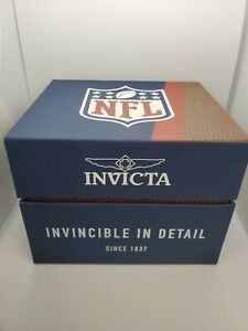 3 Empty Invicta NFL Watch presentation boxes